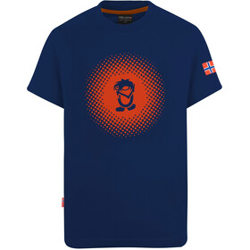 TROLLKIDS Pointillism T-shirt Kinderen, mystic blue/orange